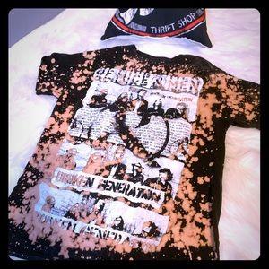 Of Mice And Men Band Shirt bleached shirt